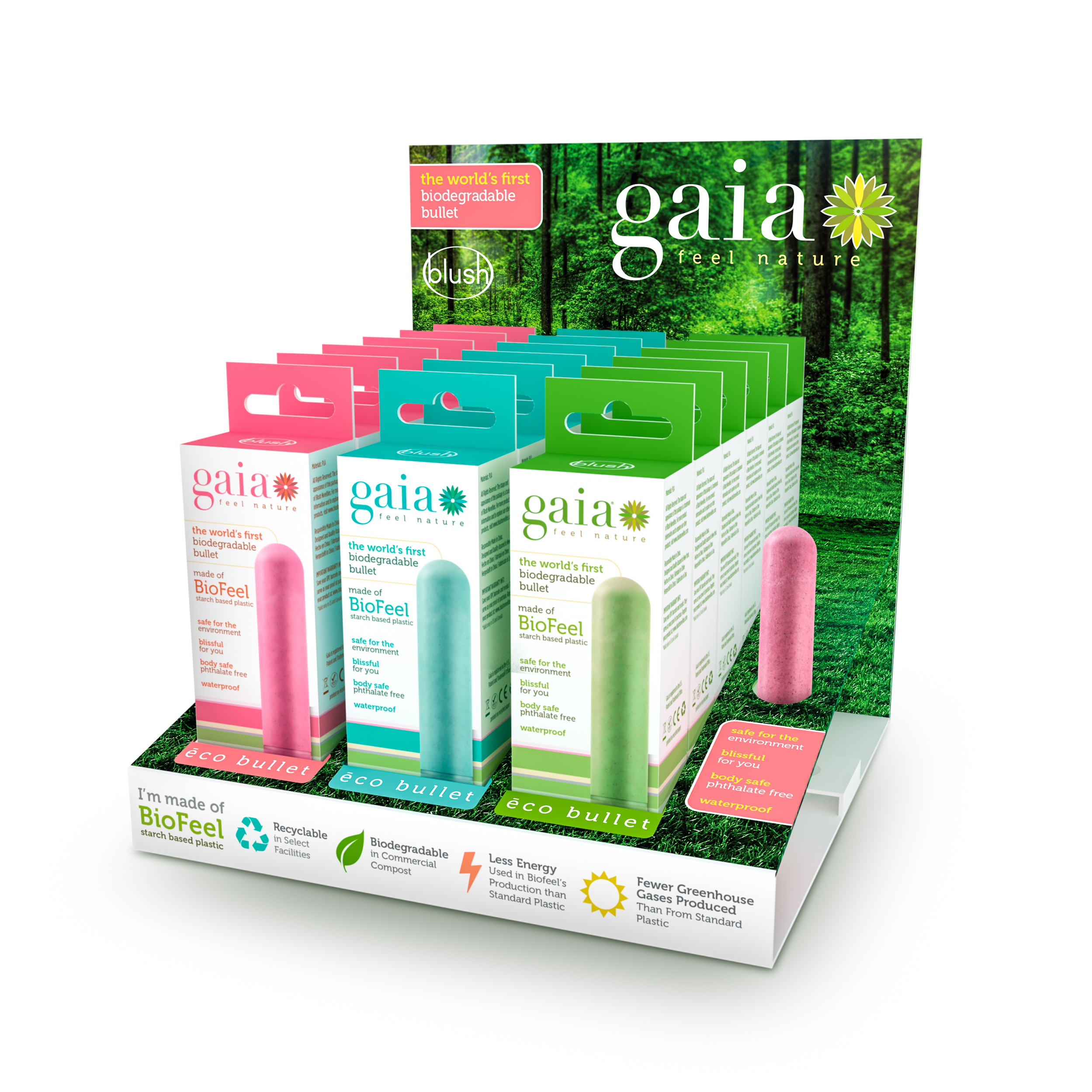 Gaia - Gaia Eco Bullet 18 Piece PDQ Display