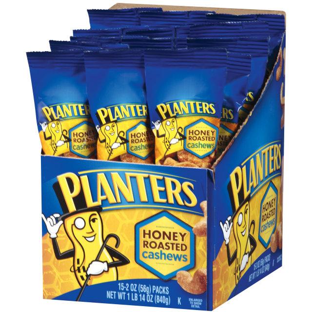 Planters Honey Roasted Cashews 15-2 oz. Bags