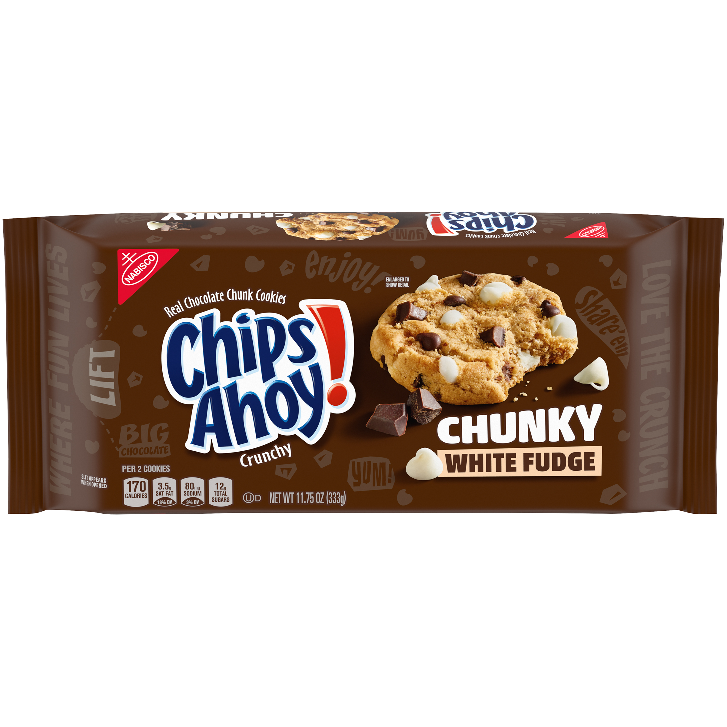 CHIPS AHOY! Chunky Chunky White Fudge Cookies 11.75 oz