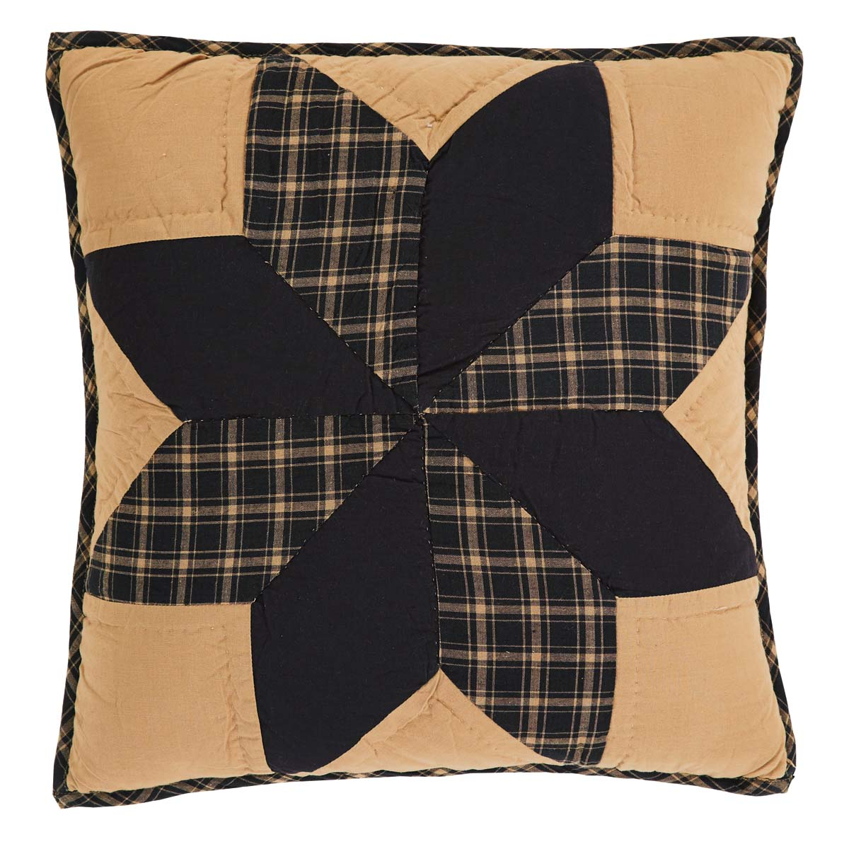 Dakota Star Quilted Pillow 16x16
