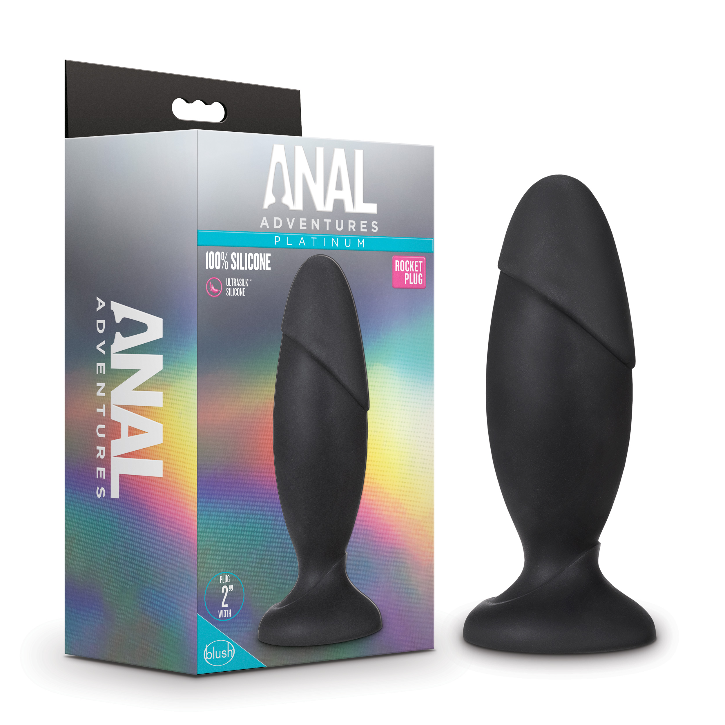 Anal Adventures Platinum - Silicone Rocket Plug - Black