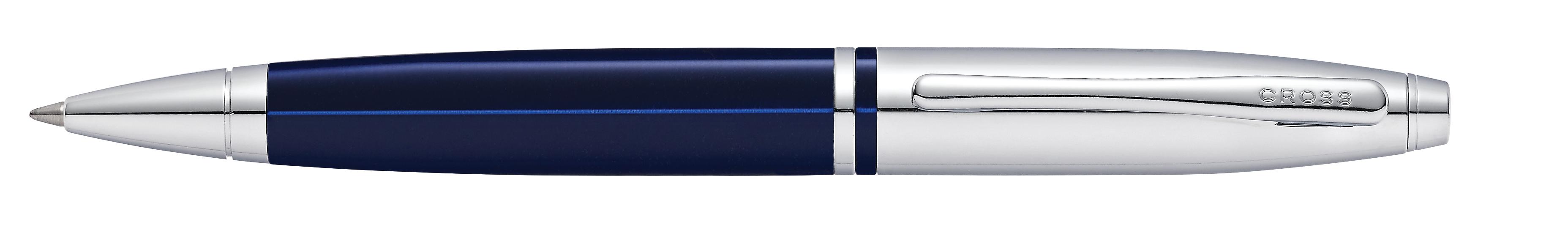 Calais Chrome Blue Ballpoint Pen - self-server packaging