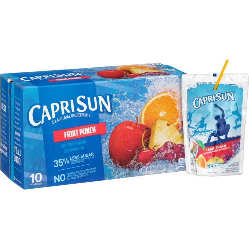 CAPRI SUN Juice Fruit Punch Pouch, 6 oz. Pouches (Pack of 40)