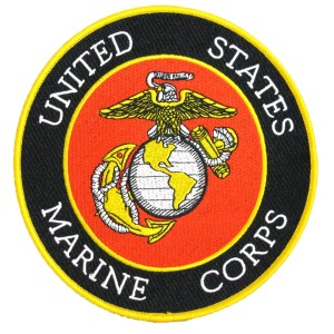 Embroidered Military Patch- MARINES