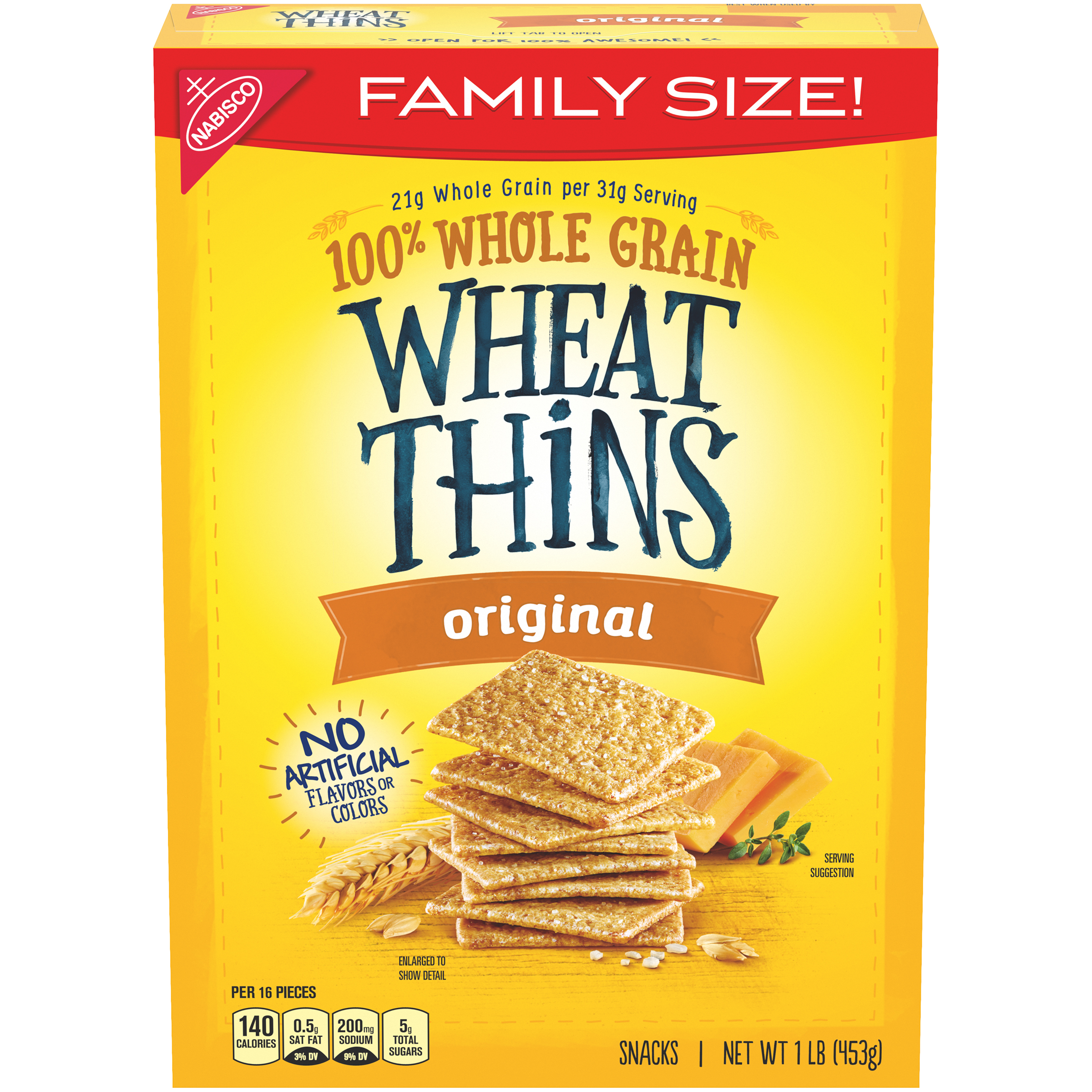 WHEAT THINS Supermix Crackers 16 oz