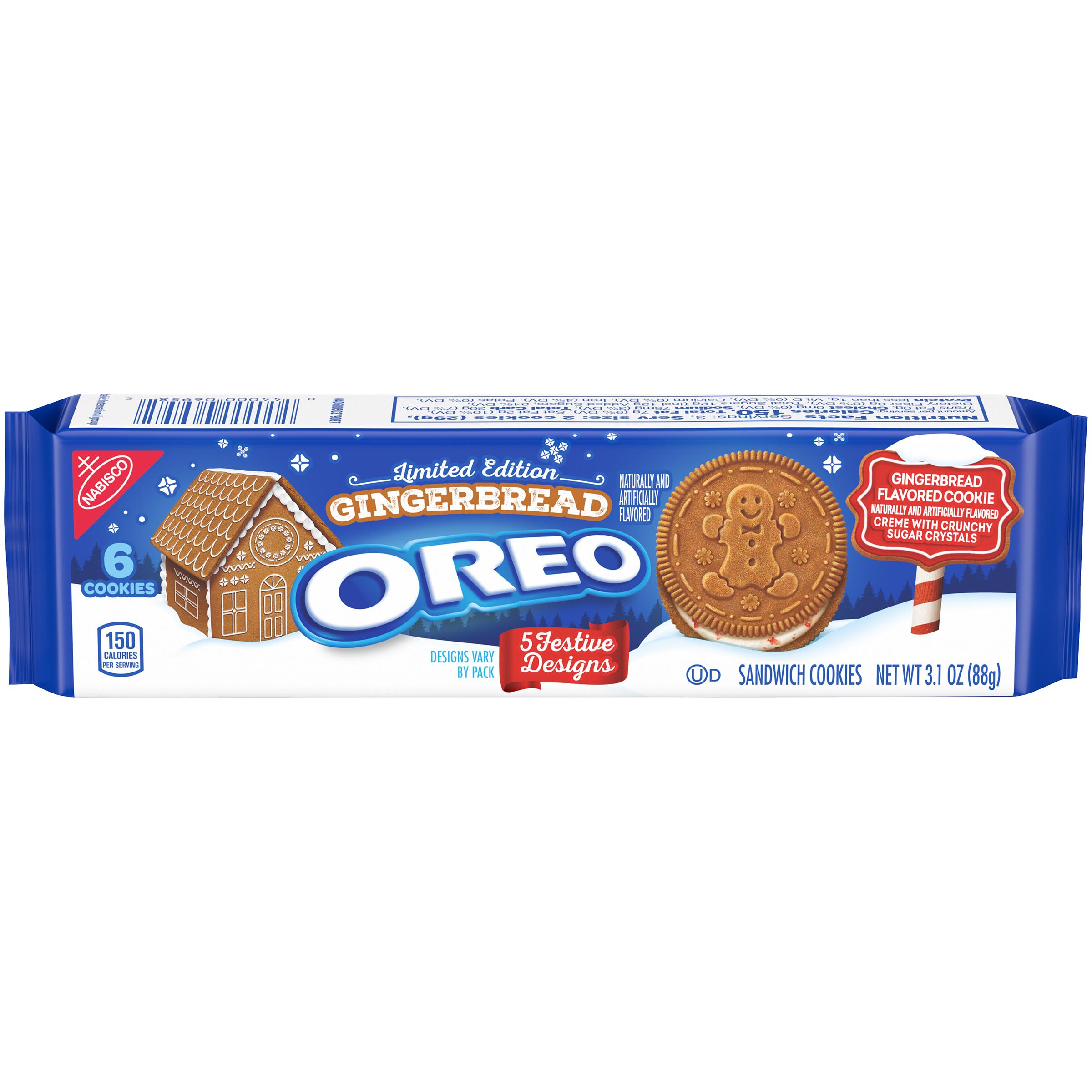 OREO Gingerbread Cookies-Single Serve 3.1 Oz