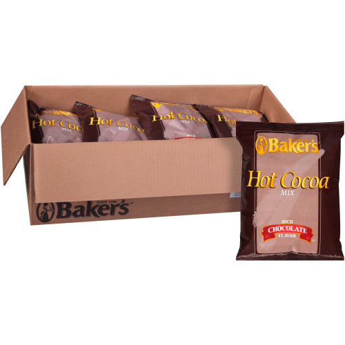 BAKER'S Bulk Hot Cocoa Mix, 2 lb. Bag (Pack of 12)