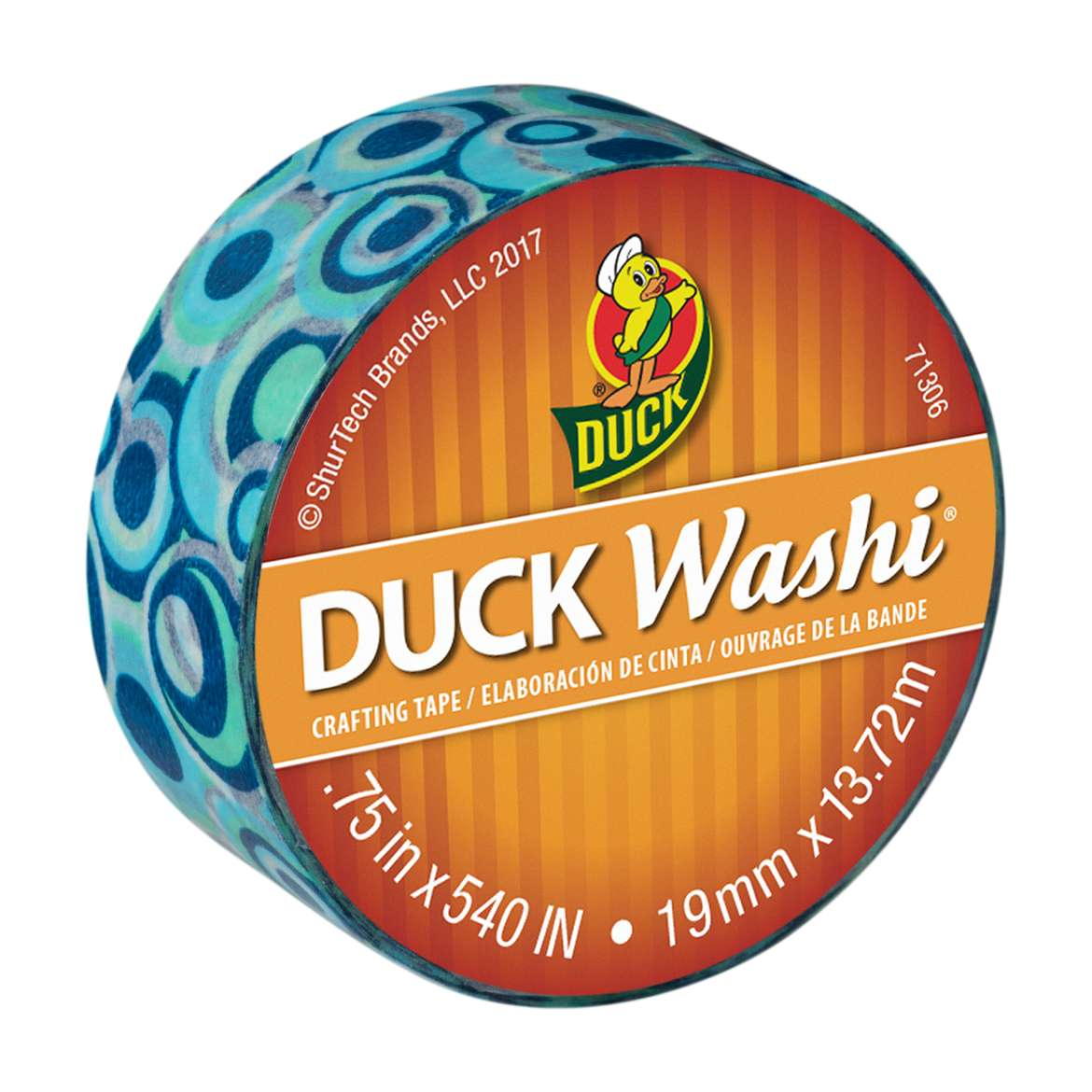 Duck Washi® Crafting Tape - Blue Mod, 0.75 in. X 15 yd. Image