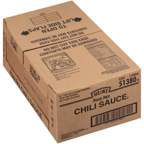HEINZ Chili Sauce, 7.2 lb. Pouches (Pack of 6)