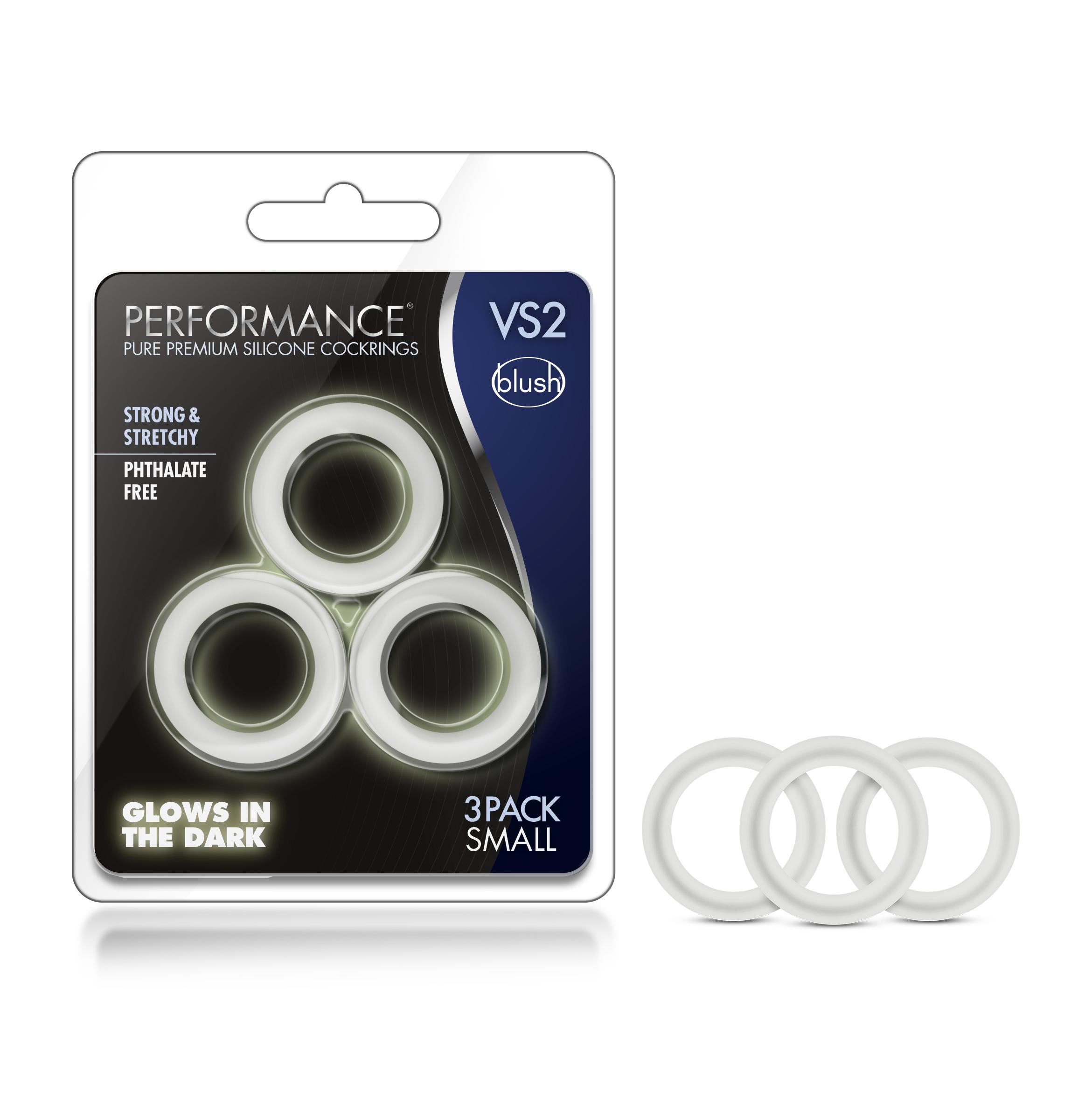 Performance - VS2 Pure Premium Silicone Cock Rings - Small - White