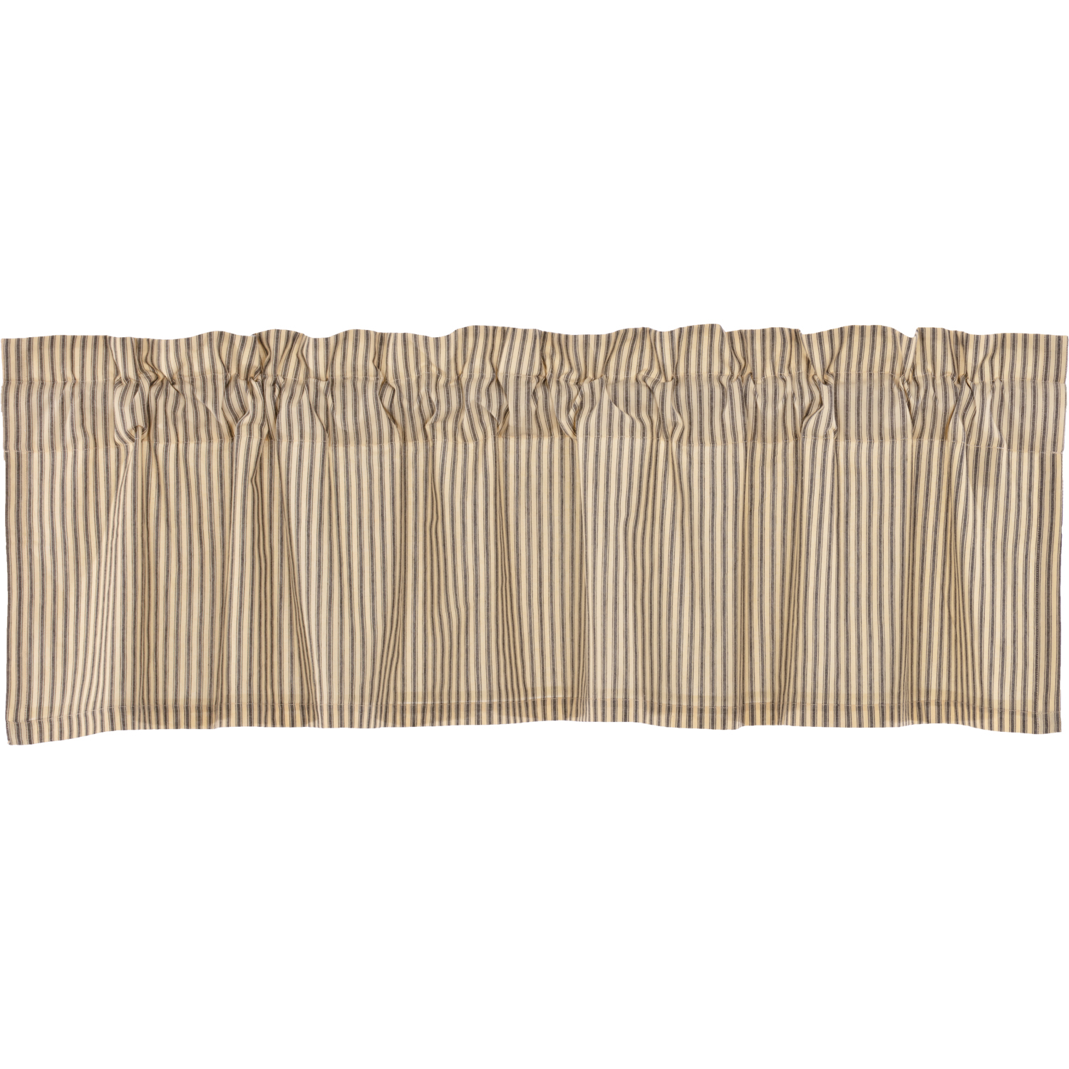 Sawyer Mill Charcoal Ticking Stripe Valance 16x60