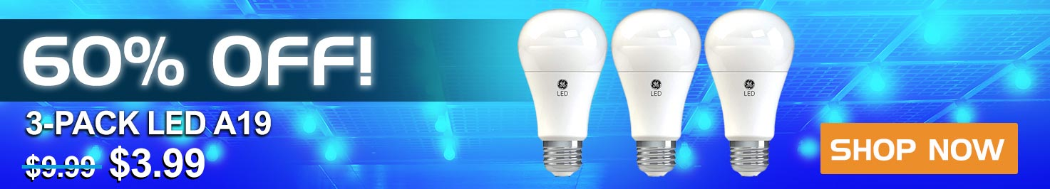 60% Off 3-Pack LED A19