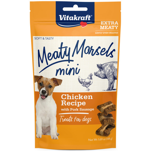 Product-Image showing Meaty Morsels Mini Chicken Recipe with Pork Sausage