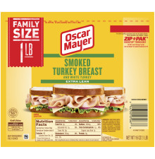 OSCAR MAYER Smoked Turkey Breast 16 oz Pack