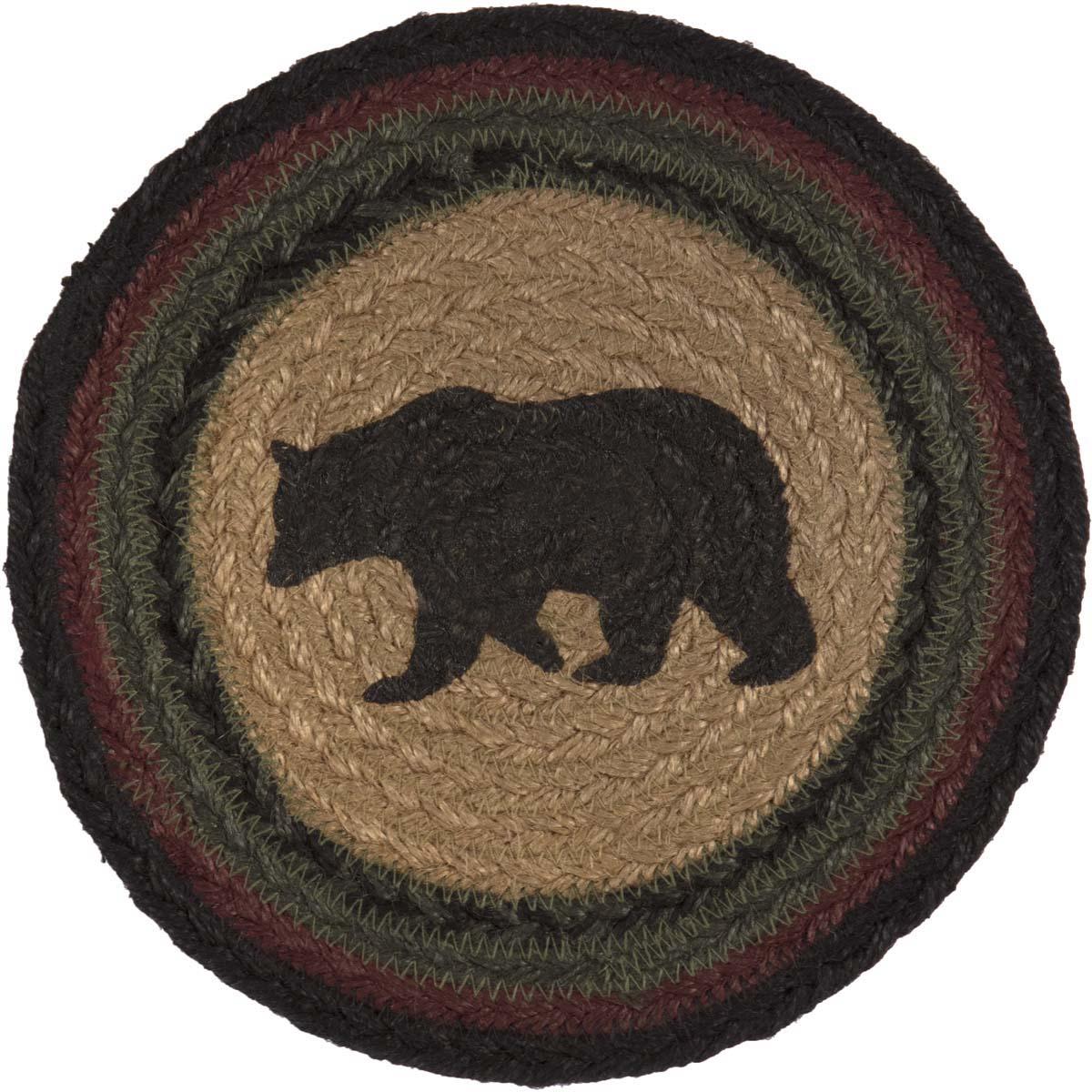 Wyatt Stenciled Bear Jute Trivet 8