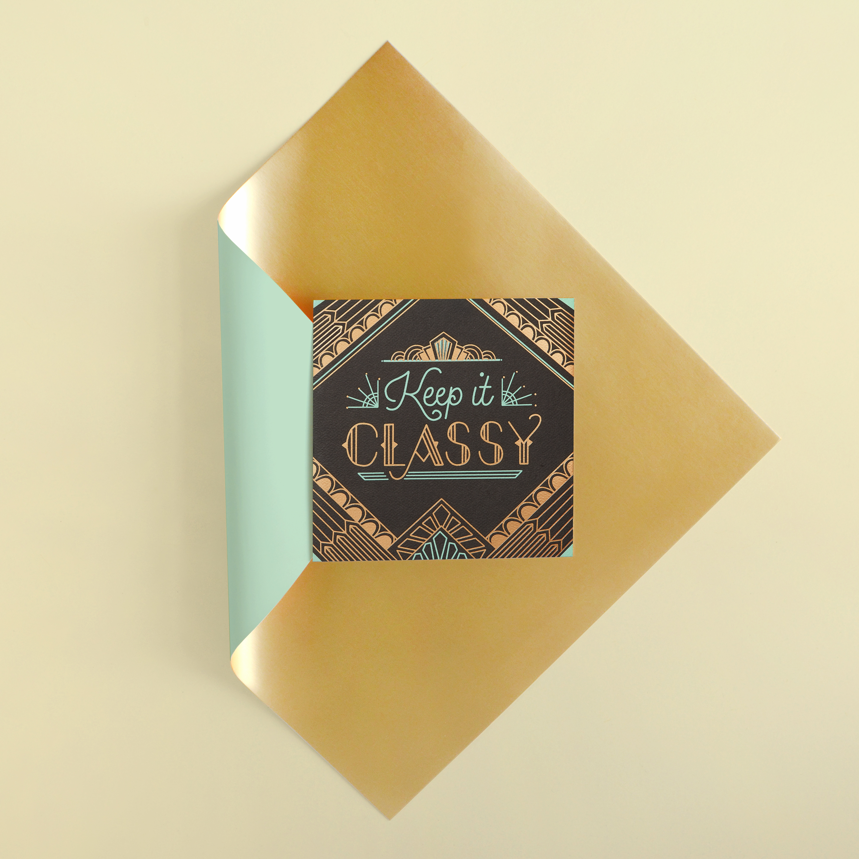 Classy Greeting Card - Birthday, Thinking of You, Congratulations image