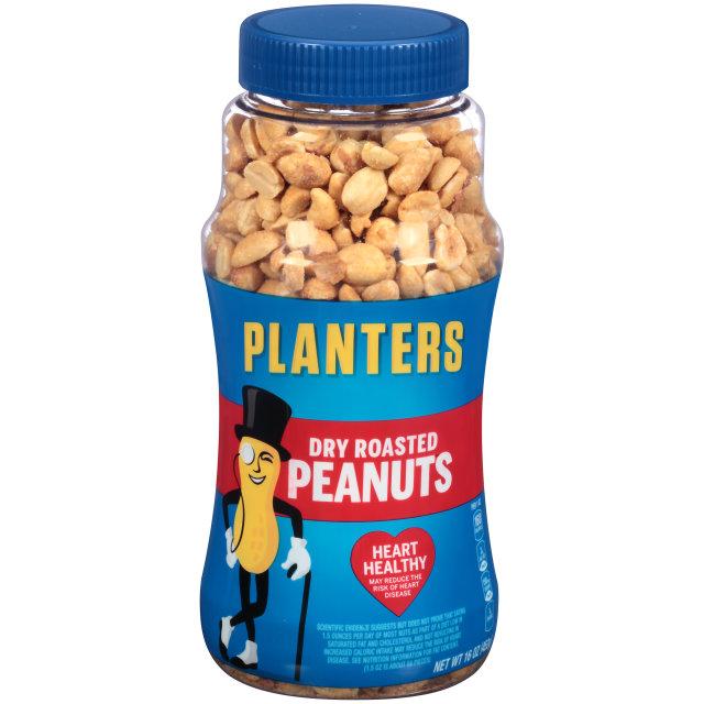 PLANTERS Dry Roasted Peanuts 16 oz Jar