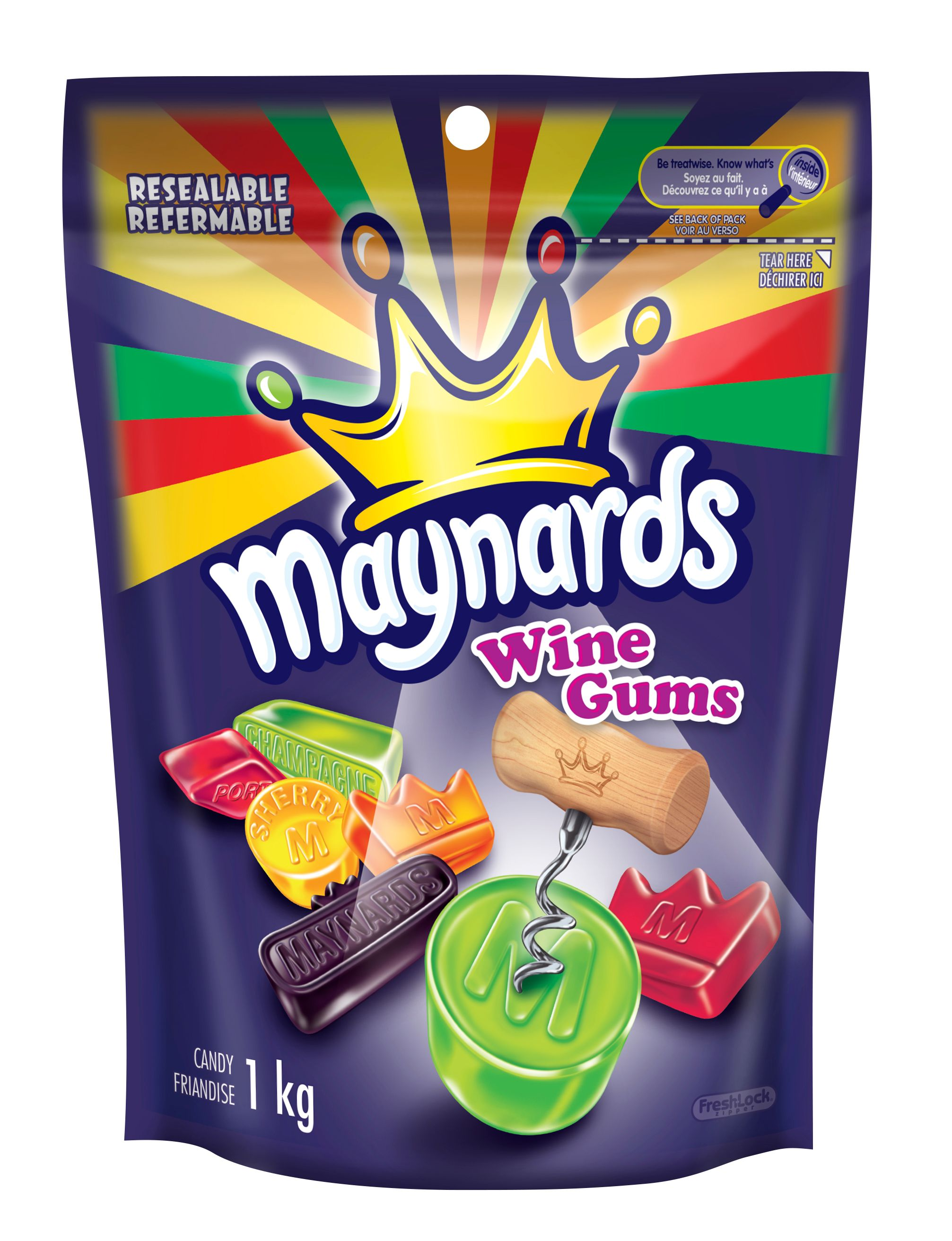 Maynards Wine Gums Assorti Friandise Molle 1 Kgm