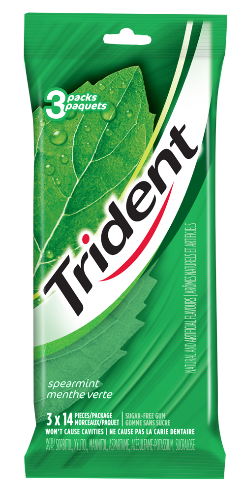 Trident Spearmint Gum 42 Count