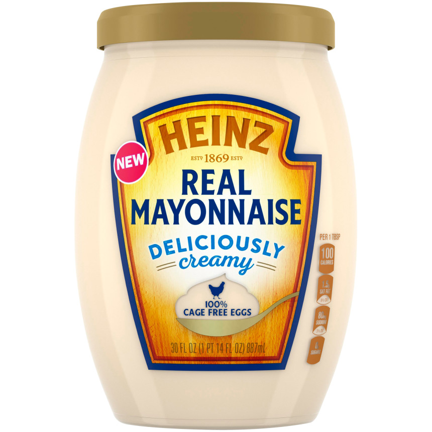Heinz Real Mayonnaise, 30 fl oz Jar
