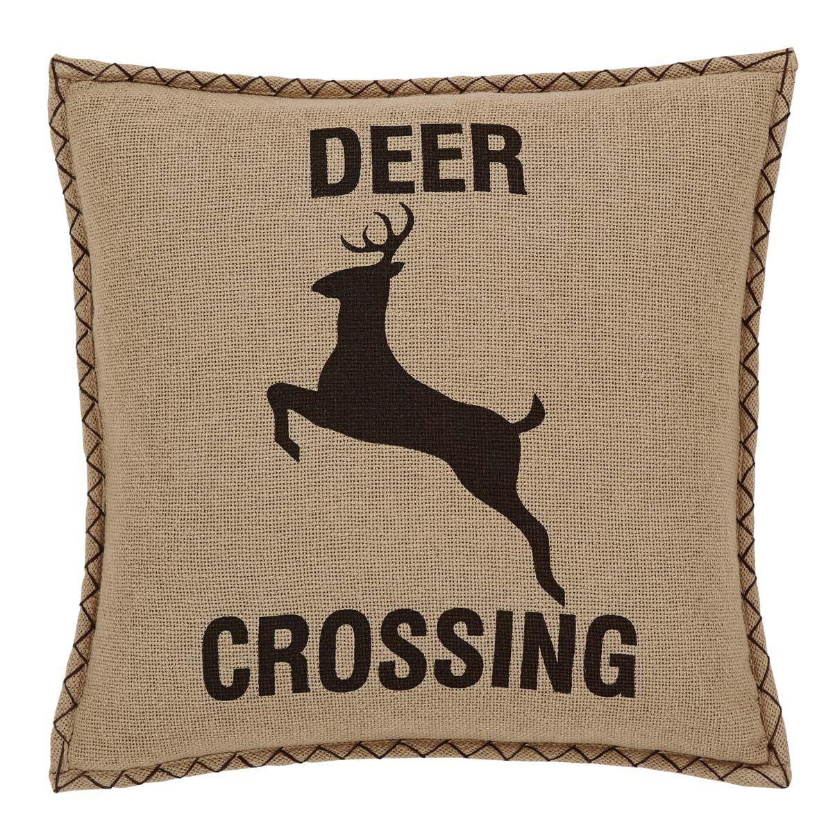 Dawson Star Deer Crossing Pillow Cover 18x18