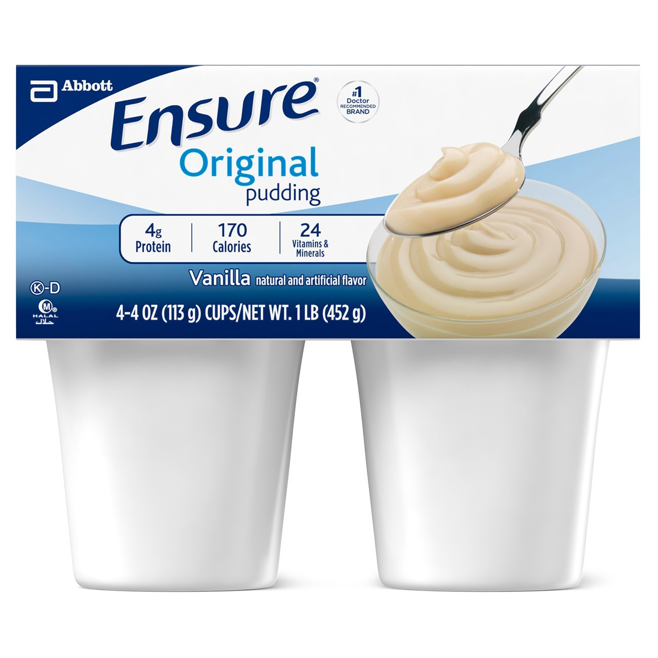 Ensure Pudding Vanilla Flavor 4 oz. Cup Ready to Use, 54844 - EACH