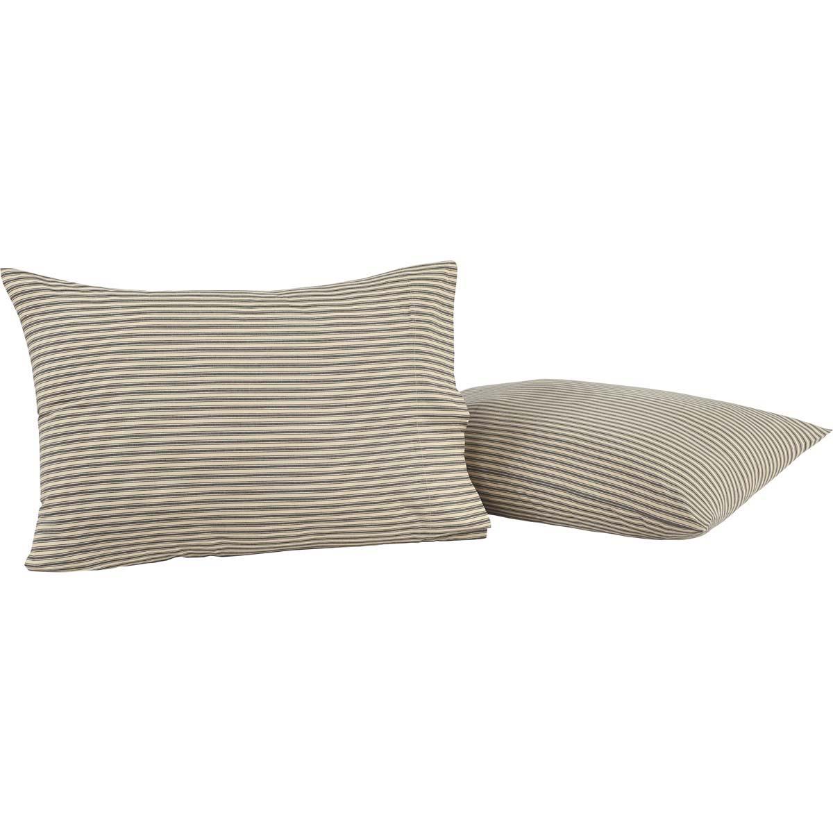 Kendra Stripe Black Standard Pillow Case Set of 2 21x30