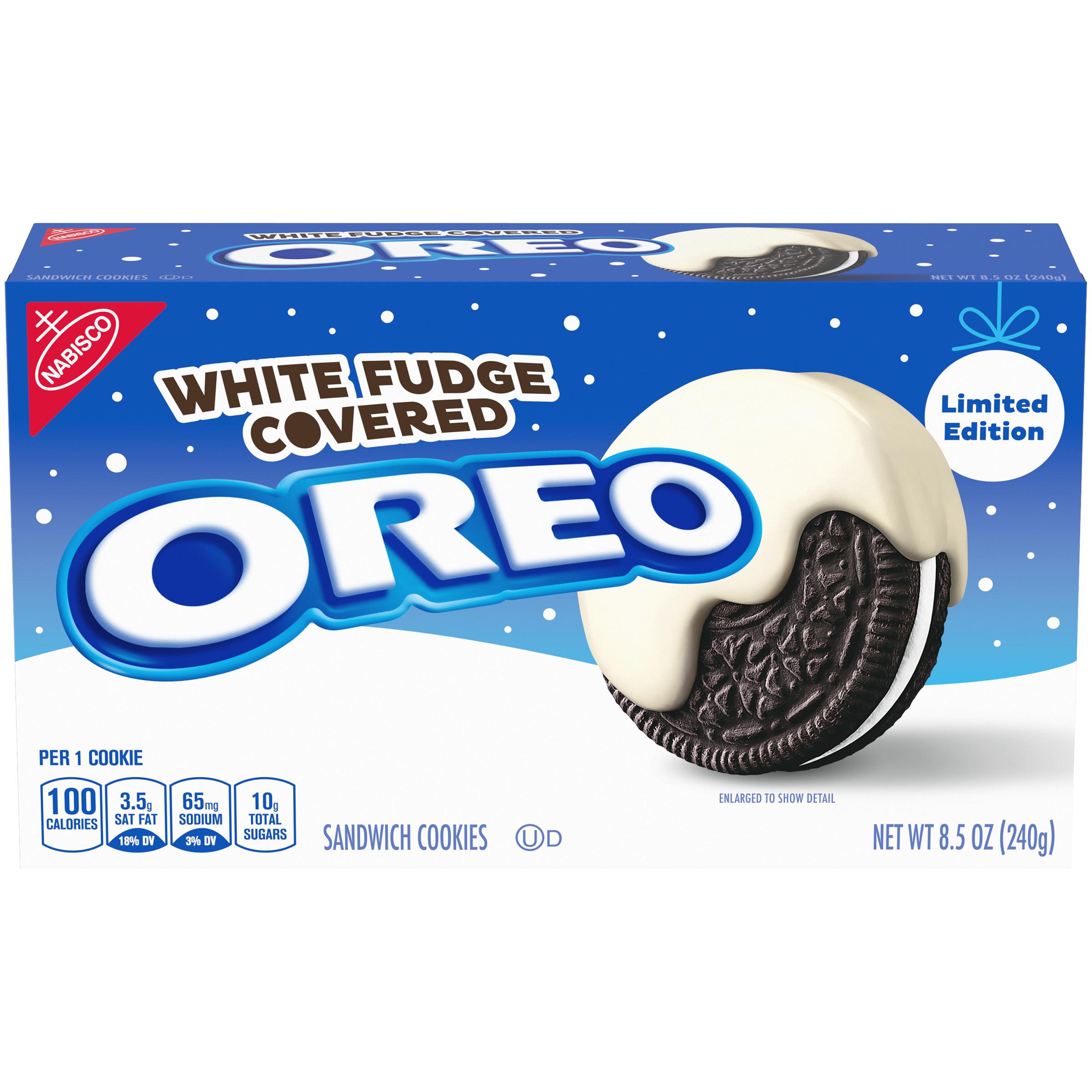 OREO White Fudge Chocolate Covered Cookies 8.5 oz