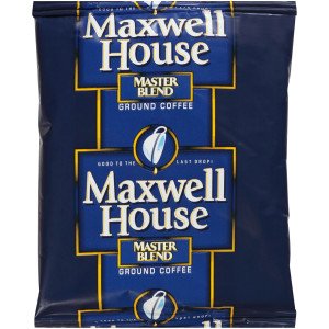 MAXWELL HOUSE Master Blend Roast & Ground Coffee, 1.5 oz. Packets (Pack of 160) image