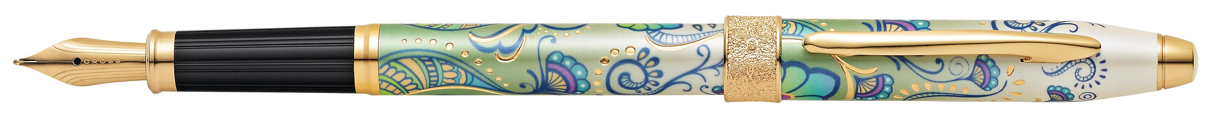 Botanica Green Daylily Fountain Pen
