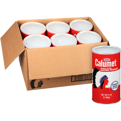 CALUMET Baking Powder, 5 lb. Canisters (Pack of 6)