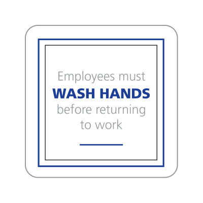 Dispenser Label - Wash Hands