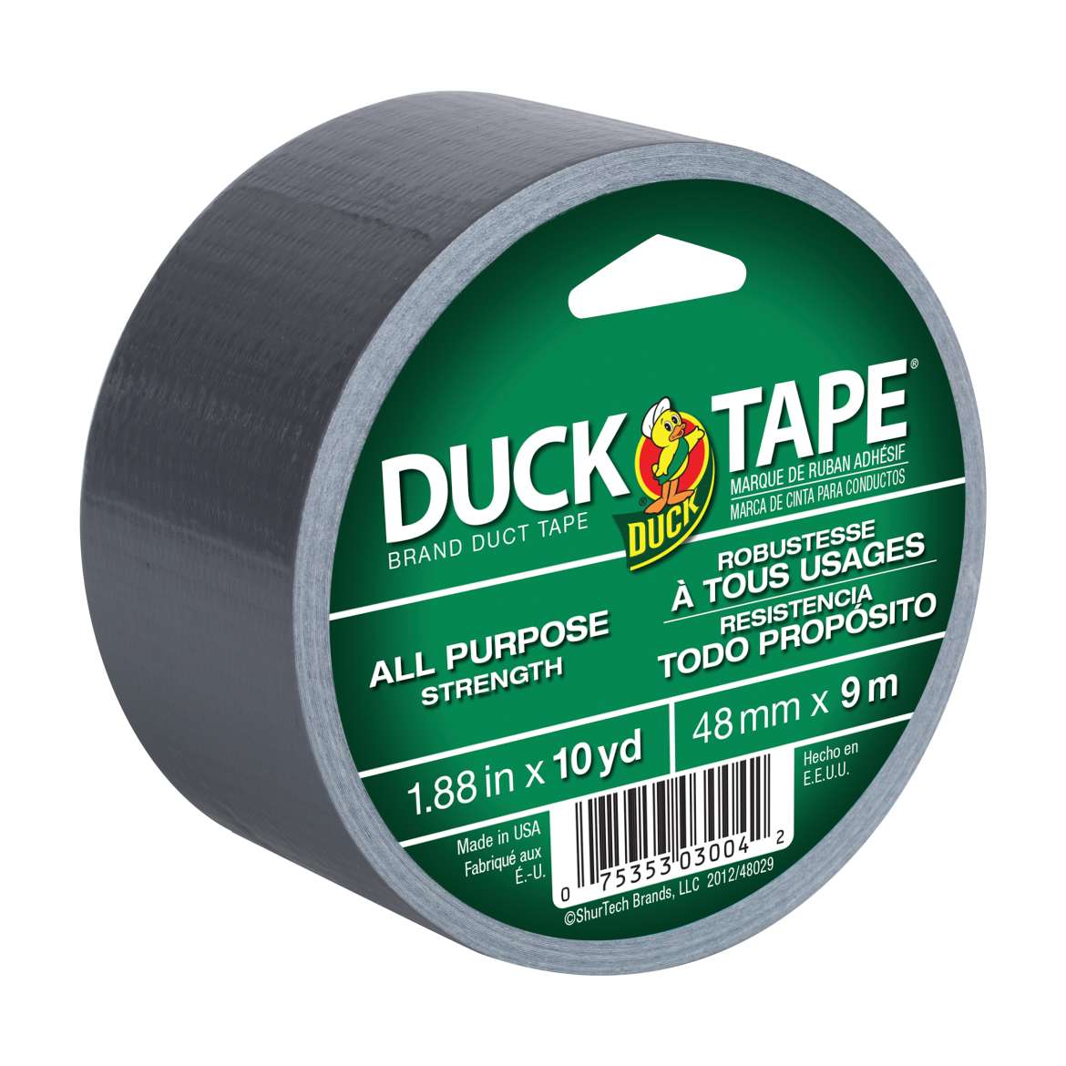 All Purpose Duck Tape® Brand Duct Tape - Silver, 1.88 in. x 10 yd. Image