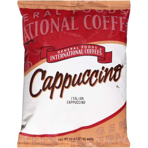 GENERAL FOODS INTERNATIONAL CAFÉ Italian Cappuccino Powder, 2 lb. Container (Pack of 6)