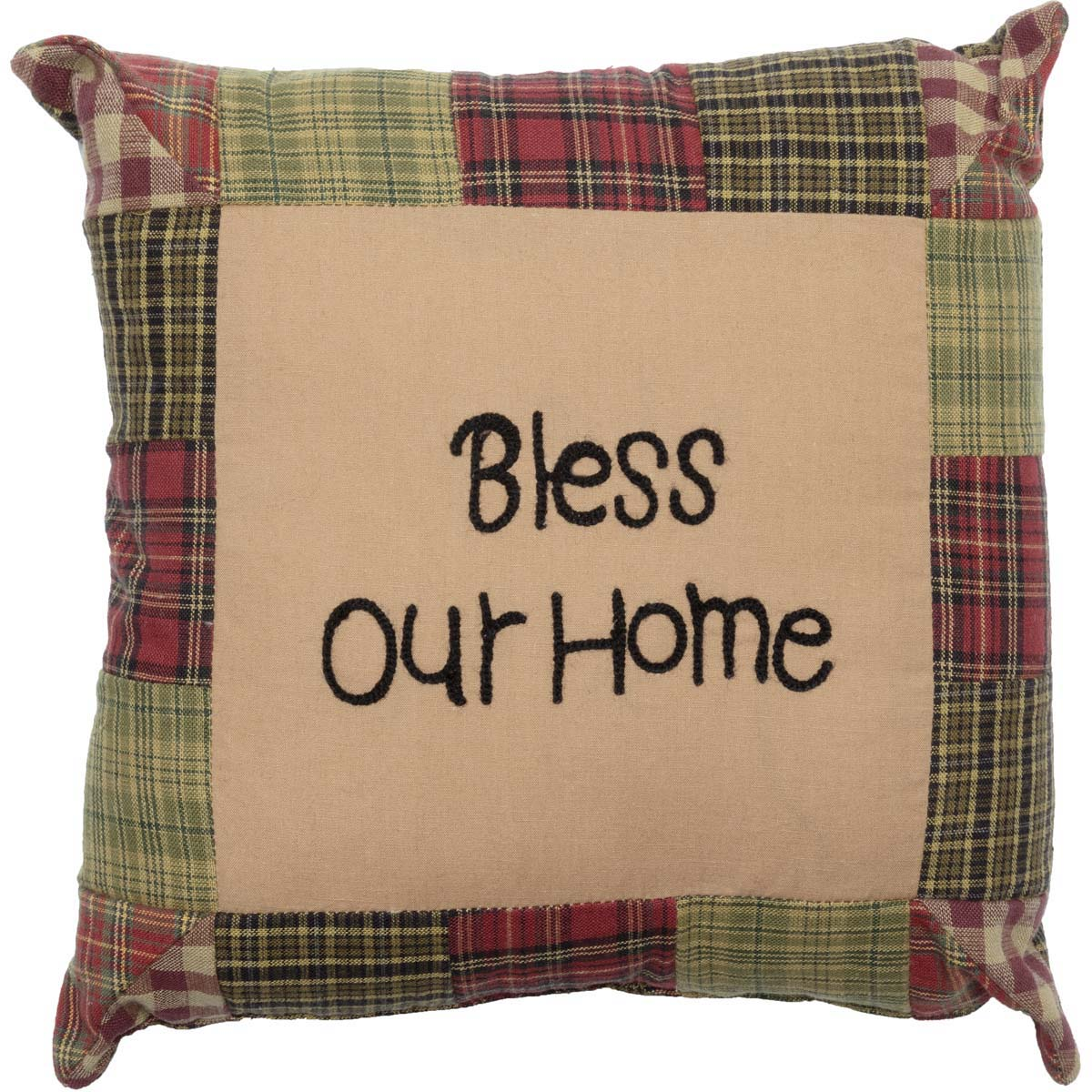 Tea Cabin Pillow Bless Our Home 10x10