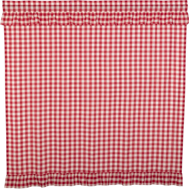 Annie Buffalo Red Check Ruffled Shower Curtain 72x72