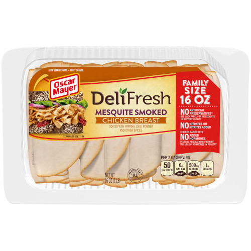 OSCAR MAYER Deli Fresh Mesquite Smoked Chicken Breast 16oz Tray