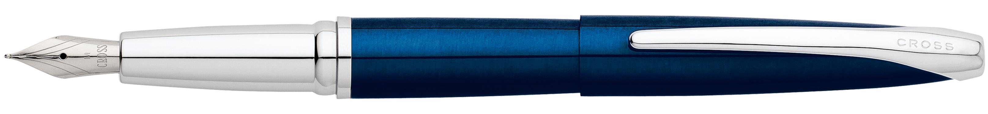 ATX Translucent Blue Lacquer Fountain Pen