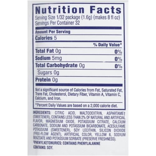 CRYSTAL LIGHT Sugar-Free Citrus (Pineapple, Orange) Drink Mix, 6.8 oz. Packet (Pack of 30)