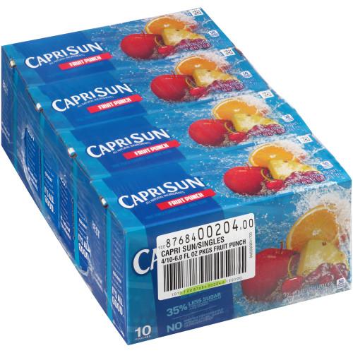 CAPRI SUN Juice Fruit Punch Pouch, 6 oz. Pouches (Pack of 40)