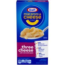 Kraft Three Cheese Macaroni & Cheese Dinner 7.25 oz Box