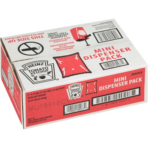 HEINZ Ketchup Mini Dispenser Pack, 0.75 gal. (Pack of 2)