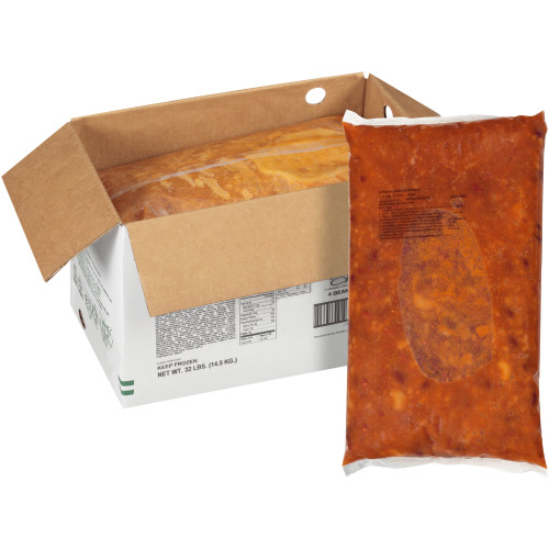 QUALITY CHEF 4 Bean Baked Beans, 8 lb. Frozen Bag (Pack of 4)