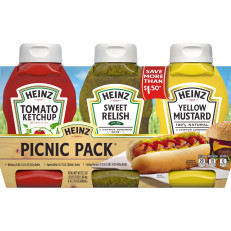 Heinz Variety Pack Ketchup Sweet Relish & Yellow Mustard, 3 count Sleeve image