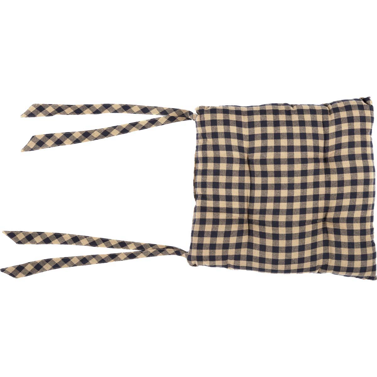 Black Check Chair Pad