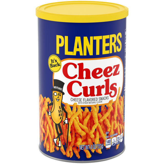 Planters Cheez Curls, 4 Ounce Cannister