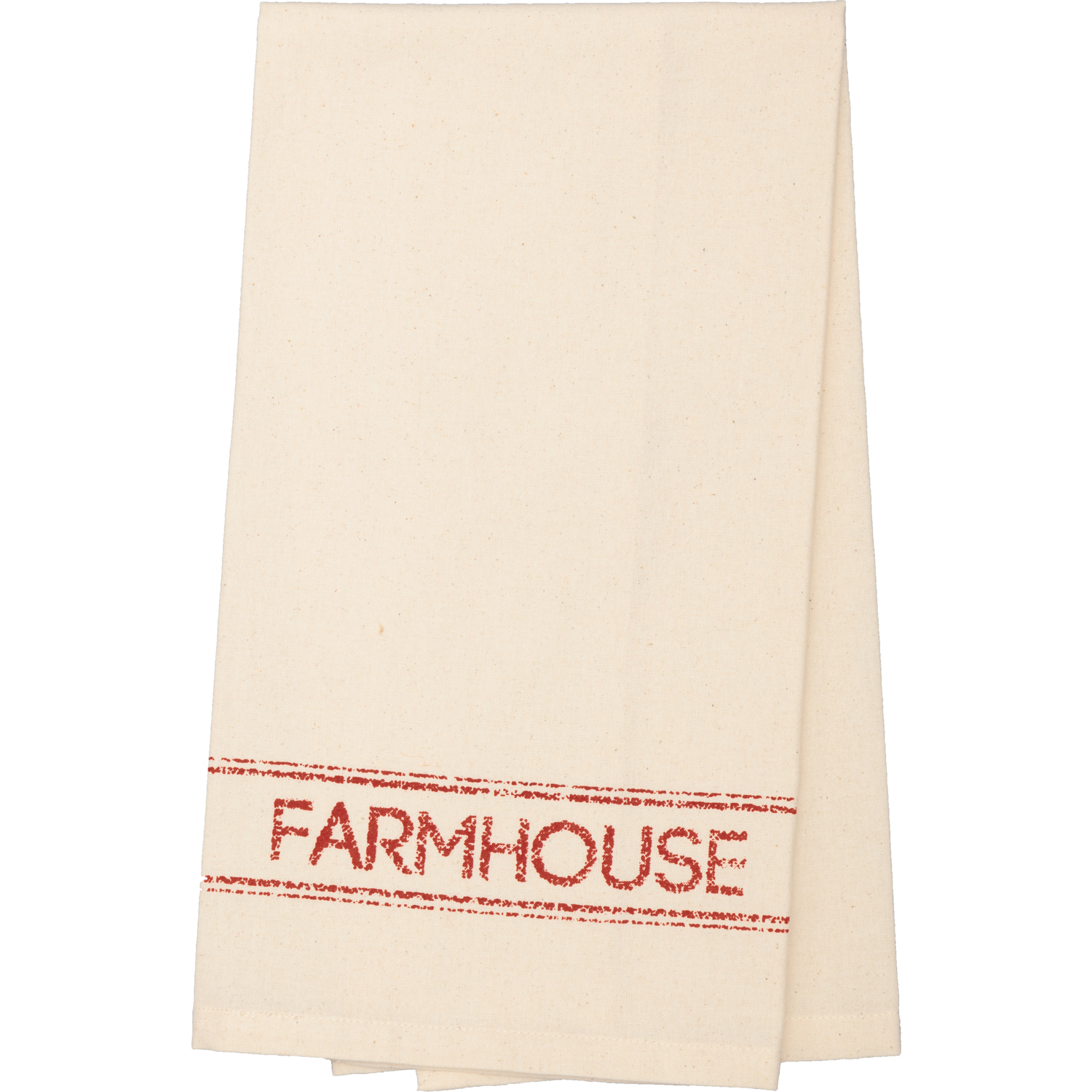 Sawyer Mill Red Farmhouse Muslin Unbleached Natural Tea Towel 19x28