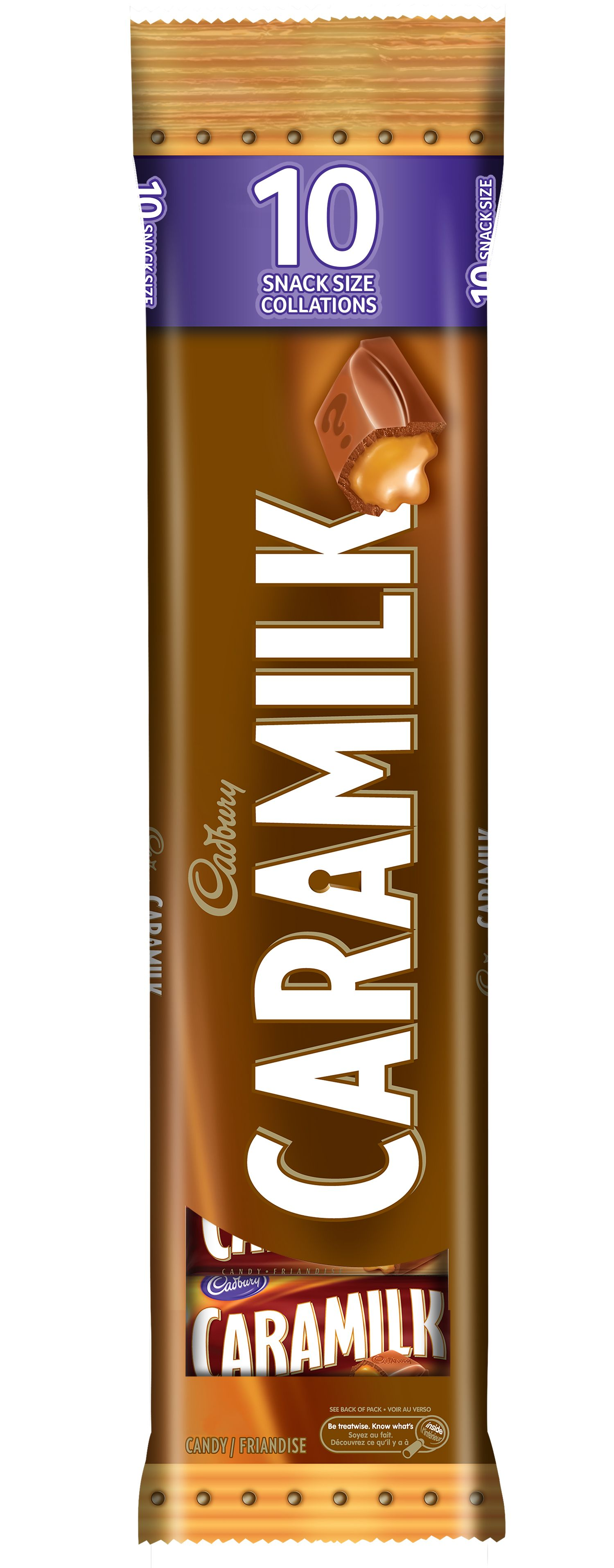 Caramilk Original Chocolate Bar-Minis 105 G