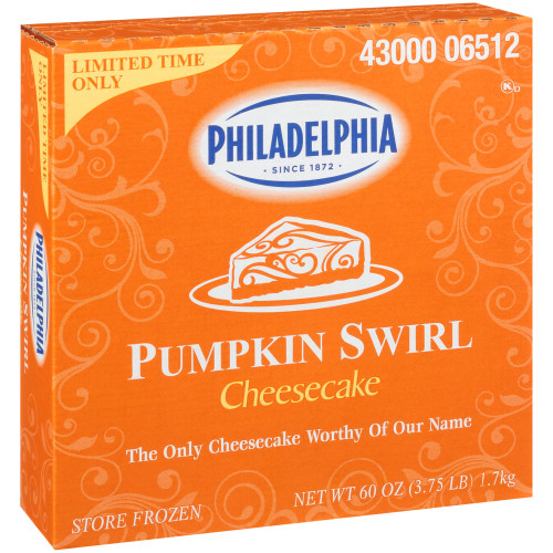 PHILADELPHIA Pumpkin Cheesecake, 60 pz. (Pack of 4)
