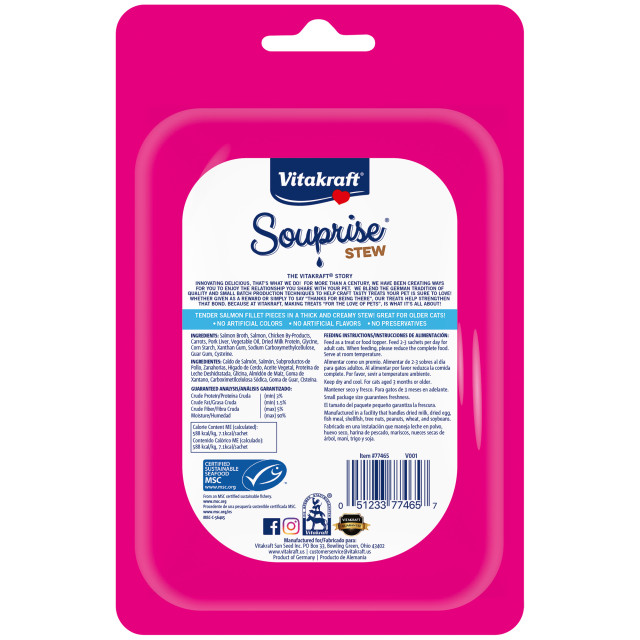 Back-Image showing Souprise® Stew, Salmon and Carrot, 5 Pack